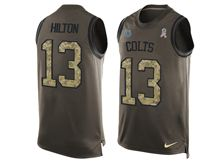 mens nfl indianapolis colts #13 t.y. hilton Green salute to service limited tank top jersey