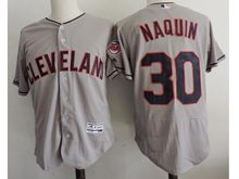 mens majestic cleveland indians #30 tyler naquin gray Flex Base jersey