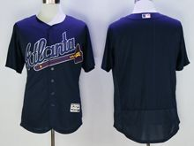 mens majestic atlanta braves blank navy Flex Base jersey