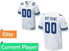 Mens Dallas Cowboys White Elite Current Player Jersey