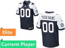Mens Dallas Cowboys Blue Elite Thanksgiving Current Player Jersey
