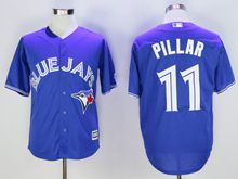 Mens Mlb Toronto Blue Jays #11 Kevin Pillar Blue Cool Base Jersey