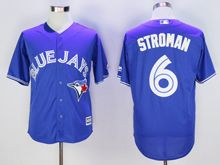 Mens Mlb Toronto Blue Jays #6 Marcus Stroman Blue Cool Base Jersey