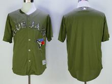 Mens Mlb Toronto Blue Jays Blank Green Fashion 2016 Memorial Day Jersey