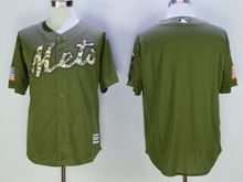Mens Mlb New York Mets Blank Green Fashion 2016 Memorial Day Jersey