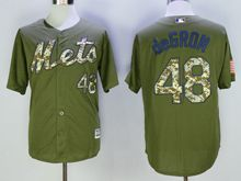 Mens Mlb New York Mets #48 Jacob Degrom Green Fashion 2016 Memorial Day Jersey