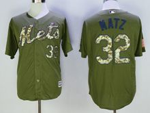 Mens Mlb New York Mets #32 Steven Matz Green Fashion 2016 Memorial Day Jersey