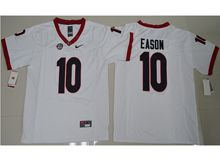 Mens Ncaa Nfl Georgia Bulldogs #10 Jacob Eason White Limited Jersey