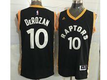 Mens Nba Toronto Raptors #10 Demar Derozan Black&gold Jersey