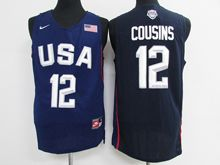 Mens Nba 12 Dream Teams #12 Demarcus Cousins Blue Jersey