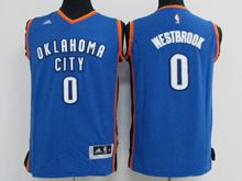 Mens Nba Oklahoma City Thunder #0 Russell Westbrook Blue Jersey