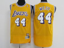 Mens Nba Los Angeles Lakers #44 Jerry West Gold Jersey
