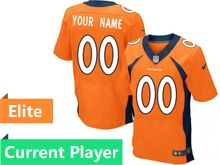 Mens Denver Broncos Orange Elite Current Player Jersey
