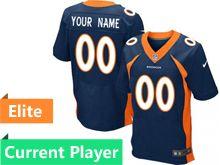 Mens Denver Broncos Blue Elite Current Player Jersey