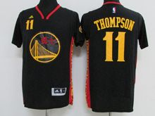 Mens Adidas Golden State Warriors #11 Klay Thompson Black (chinese Version) Jersey