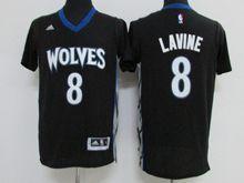 Mens Nba Minnesota Timberwolves #8 Zach Lavine Black Jersey