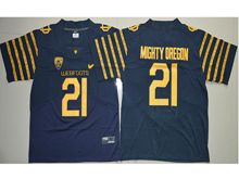 Mens Ncaa Nfl Oregon Ducks #21 Royce Freeman Navy Blue Weebfoot 100th Rose Bowl Game Elite Jersey