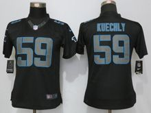 Women   Carolina Panthers #59 Luke Kuechly Black Impact Limited Jerseys