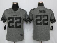 Women   Minnesota Vikings #22 Harrison Smith Gray Gridiron Limited Jersey