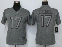 Women   Miami Dolphins #17 Ryan Tannehill Gray Gridiron Limited Jersey