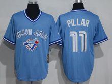 Mens Mitchell&ness Mlb Toronto Blue Jays #11 Kevin Pillar Light Blue Throwbacks Jersey