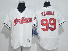 mens majestic cleveland indians #99 ricky vaughn white throwbacks Flex Base jersey