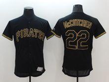 mens majestic pittsburgh pirates #22 andrew mccutchen black Flex Base jersey