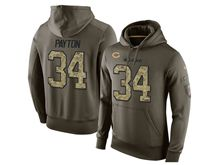 mens nfl chicago bears #34 walter payton green olive salute to service Hoodie