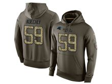 mens nfl carolina panthers #59 luke kuechly green olive salute to service Hoodie