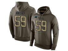 Mens Nfl Carolina Panthers #59 Luke Kuechly Green Olive Salute To Service Hoodie