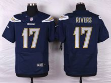 Mens Nfl San Diego Chargers #17 Philip Rivers Navy Blue Elite Jersey