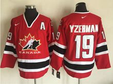 Mens Nhl Team Canada #19 Steve Yzerman Red (2002 Olympics) Throwback Jersey