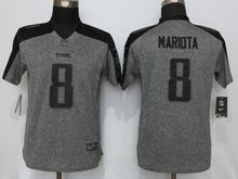 Women   Tennessee Titans #8 Marcus Mariota  Gray Stitched Gridiron Limited Jersey
