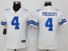 Women   Nfl Dallas Cowboys #4 Dak Prescott White Limited Jersey