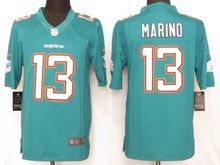 Mens   Miami Dolphins #13 Dan Marino Green Limited Jersey