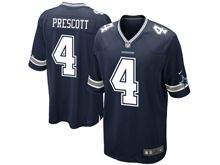 Mens Nfl Dallas Cowboys #4 Dak Prescott Blue Game Jersey