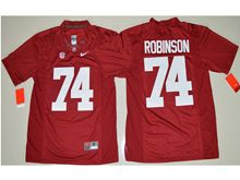 Mens Ncaa Nfl Alabama Crimson #74 Cam Robinson Crimson Limited Jersey