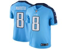 Mens   Tennessee Titans #8 Marcus Mariota  Light Blue Color Rush Limited Jersey