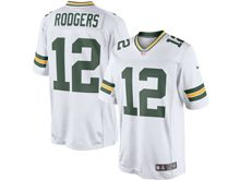 Mens   Green Bay Packers #12 Aaron Rodgers White Color Rush Limited Jersey