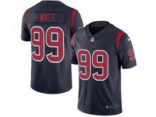 mens   Houston Texans #99 JJ Watt navy blue color rush limited jersey