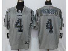 Mens Nfl   Dallas Cowboys #4 Dak Prescott Lights Out Gray Elite Jersey