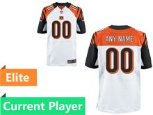 Mens Cincinnati Bengals White Elite Current Player Jersey