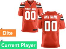 Mens Cleveland Browns Orange Elite Current Player Jersey