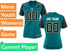 Mens Nfl Jacksonville Jaguars Green Game Current Player Jersey