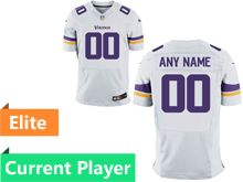 Mens Minnesota Vikings White Elite Current Player Jersey