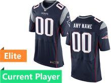 Mens New England Patriots Blue Elite Current Player Jersey