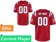 Mens New England Patriots Red Elite Current Player Jersey
