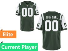 Mens New York Jets Green Elite Current Player Jersey