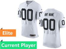 Mens Las Vegas Raiders White Elite Current Player Jersey