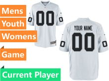 Mens Women Youth Nfl Las Vegas Raiders White Game Current Player Jersey